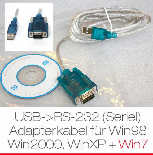 Cavo Adattatore USB a seriale per PC /& NOTEBOOK per Windows 2000 XP Vista win7