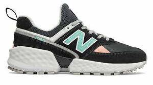 the latest b99f4 3c595 Details about New Balance Men's 574 Sport Shoes Black With White