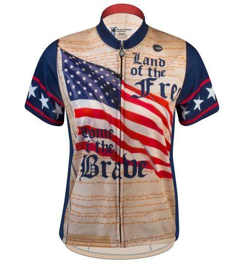 Aero Tech Designs Women's Patriot Land of Free Empress Cycling Jersey - USA Made