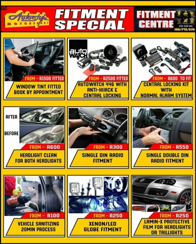 BLACK FRIDAY AUTOSTYLE MONTHS SPECIALS Supply and affordable fitment offered 7 days a week. Globes,