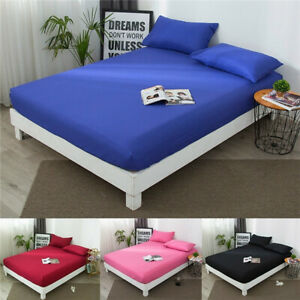 Natural-Cotton-Waterproof-Quilted-Mattress-Protector-Bed-Cover-Fitted-Sheet-Size