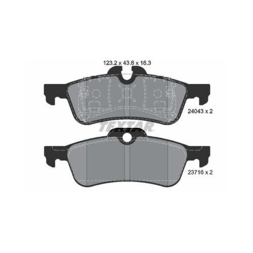 S Cabrio Bremsbeläge hinten für Mini R50 One Cooper Textar Bremsscheiben