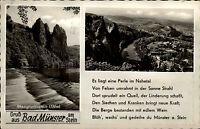 Bad Münster am Stein Ebernburg Nahe Postkarte 2 Ansichten Mehrbild Bedarfs-AK