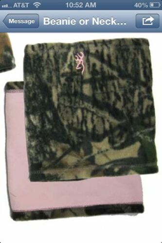 Browning Womens Camo Reversible Fleece Neck Gator Mossy Oak New Break-Up//Pink