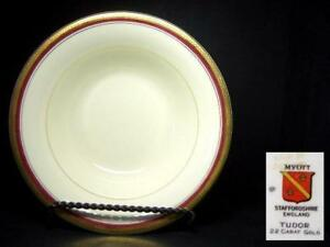 MYOTT-TUDOR-GOLD-ENCRUSTED-LARGE-SERVING-BOWL-HW720-BURGUNDY-RED
