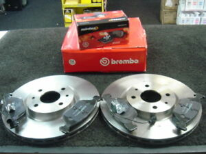 Fiat Coupe 16v Turbo Rear Drilled Grooved Brake Discs