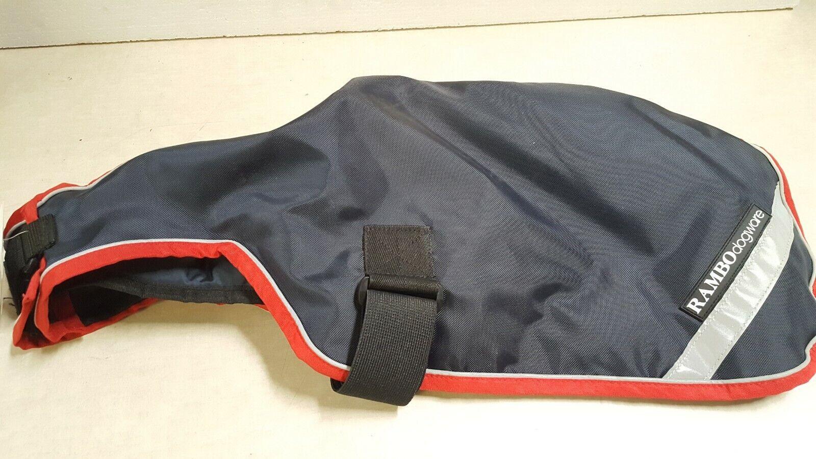 Rambo Waterproof Dog Blanket 100g - Navy blueee Red - Medium