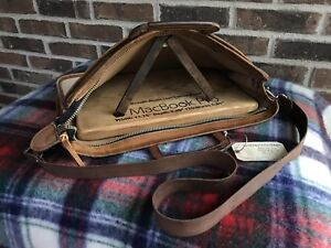 f3b64dcf43 RARE VINTAGE 1970 s HEAVY CANVAS   LEATHER MACBOOK BRIEFCASE ...