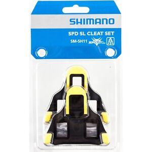 456870a0074 NEW Genuine Shimano SPD-SL SM-SH11 Road Bike Pedal Cleats 6-degrees ...