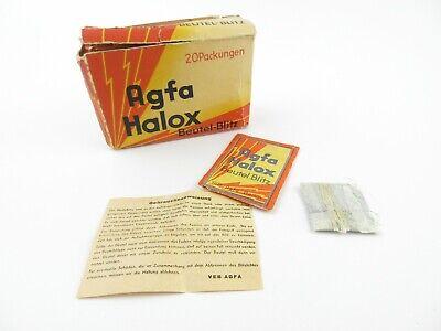 20 Envases Agfa Halox Bolsa-relámpago Bag Flash Light Retro En Ovp + Instrucciones Suministro Suficiente