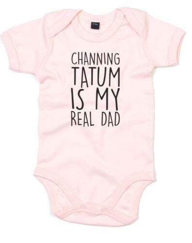 Channing Tatum est mon vrai père imprimé bébé grandir à encolure ras-du-cou manches courtes ANGE