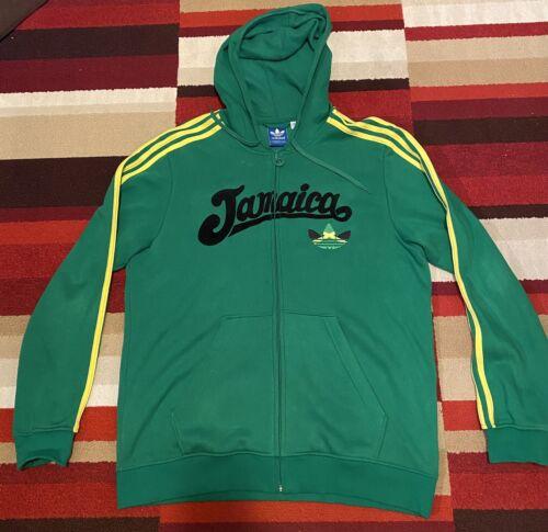 Adidas Jamaica Jacket Hoody Hoodie Sz XL 3 Strips