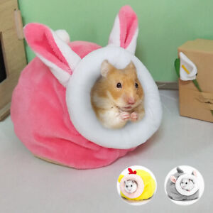 Hamster-Squirrel-Nest-Bedding-Hideouts-Winter-Warm-Fleece-Small-Animal-Cave-Cage