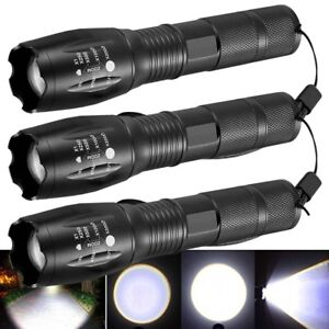 3-x-Tactical-18650-Flashlight-SWAT-T6-LED-High-Powered-5Modes-Zoomable-Aluminum