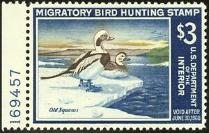 RW34-3-00-1967-Old-Squaw-Ducks-Lovely-Mint-NH-Single
