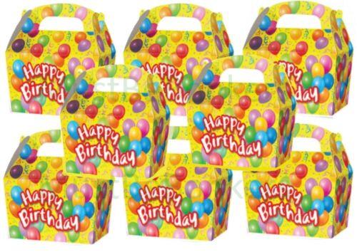 10 Feliz Cumpleaños Fiesta Cajas de regalo//bolsa de chicas chicos Goody presente Mini Caja