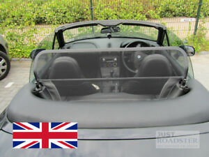without roll bars Black Mesh Wind Deflector Just Roadster Wind Deflector fits BMW Z3