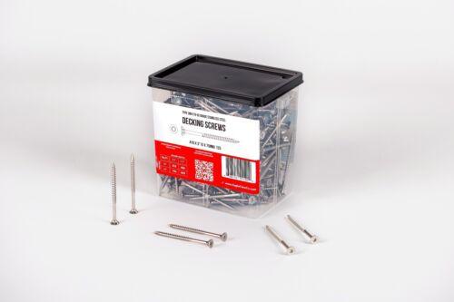 """QTY 350-5lb Stainless Steel Deck Screws # 10 X 3/"""" Star Drive T25 Torx"""