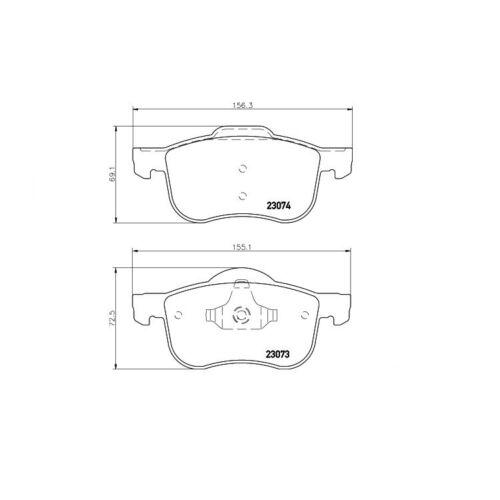 Textar Bremsbeläge vorne Volvo S60 S80 V70 XC70 2,0-3,0 ohne Sensor Teves