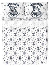 Harry Potter Hogwarts Crest Print Microfiber Full Sheet Set New In Box!