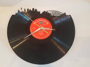 Sydney Skyline Record Vinyl Clock 12/'/' Vinyl Record Clock Wall Home Decor UK