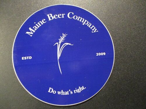 MAINE BEER COMPANY lunch dinner blue STICKER decal craft beer brewing brewery