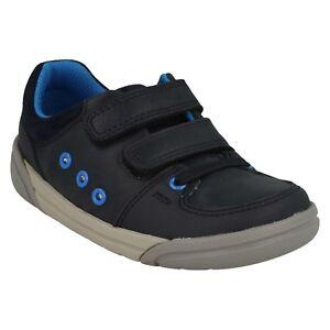 Zapatillas Buzz Tamaño Tolby de Casual Navy Bebés deporte Leather pequeños Clarks Riptape xR6Z6O