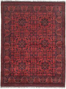 Hand-knotted-Carpet-5-039-0-034-x-6-039-6-034-Traditional-Vintage-Wool-Rug