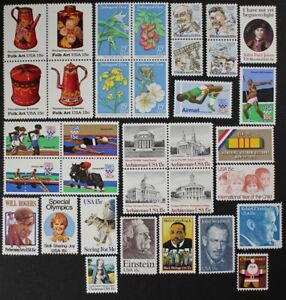 US-1979-Commemorative-Year-Set-collection-of-34-stamps-incl-Airmails-Mint-NH