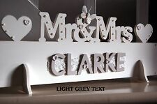 Mr & Mrs wooden Sign MR AND MRS Top Table Gift Plaque all colours personalised