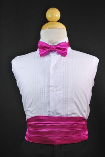BOW TIE Boys Children Tuxedo Suit Wedding Party PURPLE CUMMERBUND CUMBERBAND