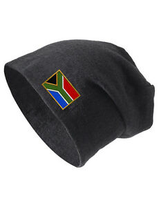 Image is loading SOUTH-AFRICA-Embroidered-Embroidery-Slouch-Slouchy-Fashion- Beanie- 97cf70da1a5
