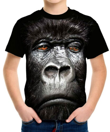 Gorilla Boys Kid Youth T-Shirts Tee Age 3-13 ael40144