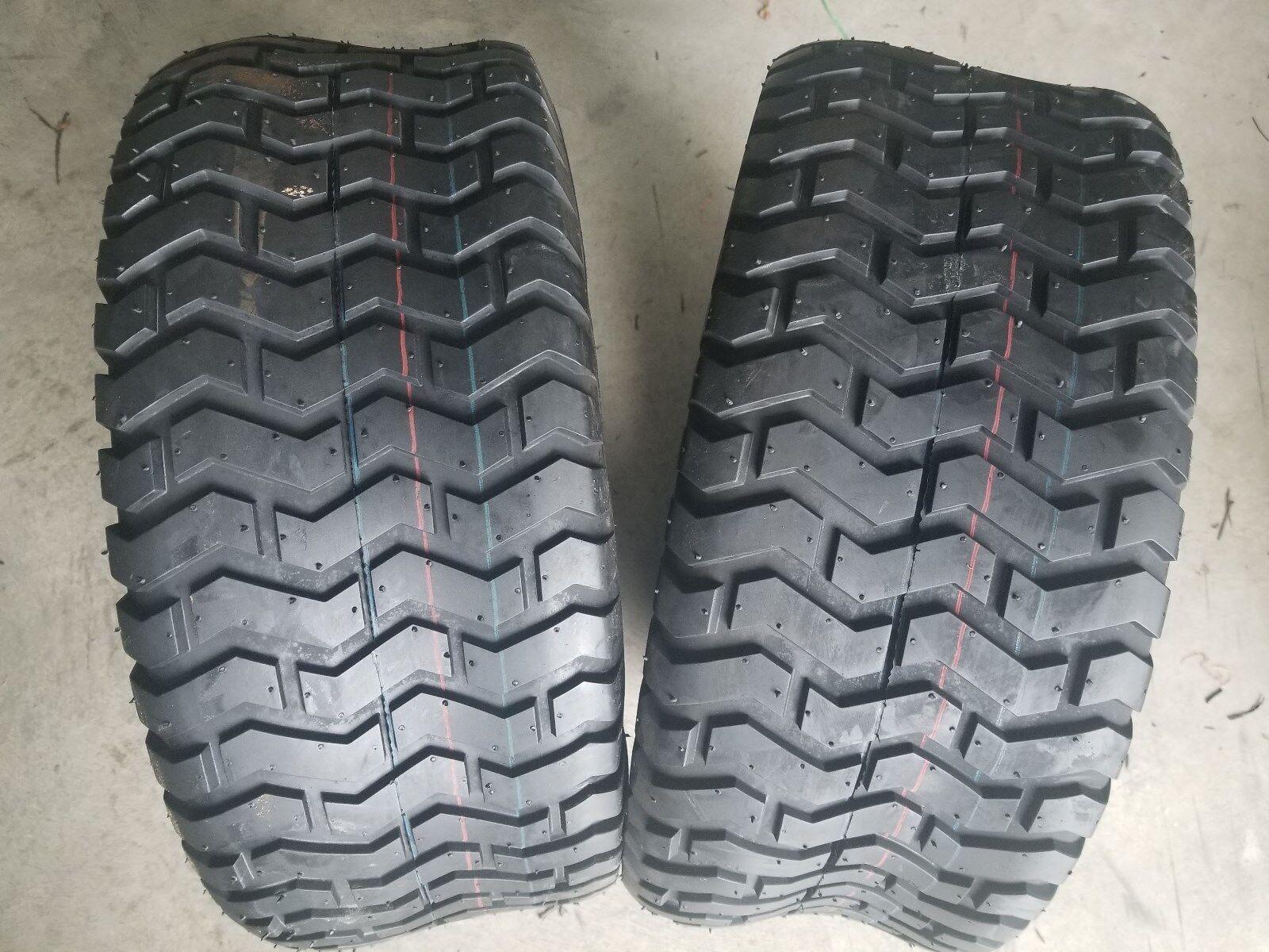 2 - 23 9.50-12 4 Ply Deestone D265 Turf Lawn Mower Tires PAIR DS7081 23 9.5-12