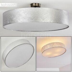 Flur Dielen Lampe rund Wohn Schlaf Zimmer Beleuchtung Decken Leuchten Stoff weiß