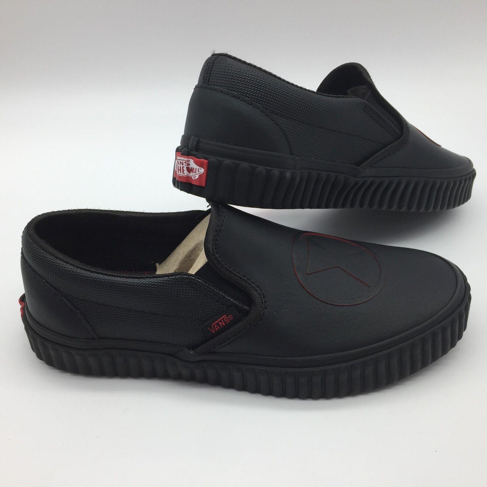 Vans Men Women's shoes  Classic Slip-On  -- (Marvel) Black Widow Black