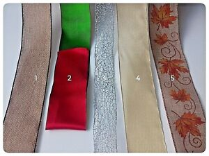 Christmas-B-day-Ribbon-trimming-Glitter-X-039-MAS-Festive-wired-wire-edged-ribbons