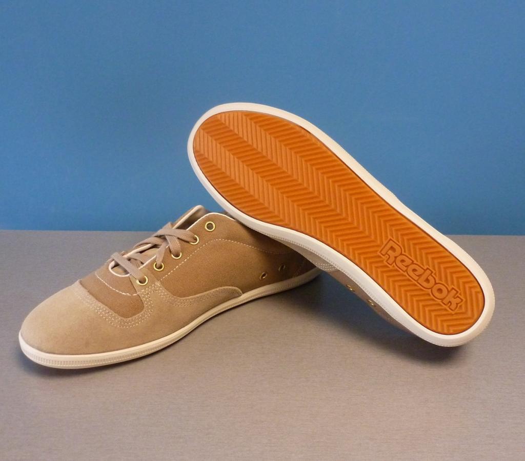 Reebok Plimton Classic Herren Sneaker Turnschuh Gr. 45 beige Canvas V55461