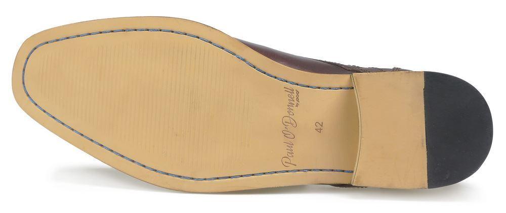 Paul O'Donnell Herren Geschnürte Formelle Schuhe - Boston 2 bordeaux Pinsel über