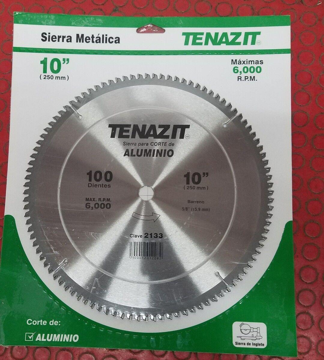 TENAZIT 2133 CIRCULAR SAW CARBIDE 10  X 100 TEETH ALUMINUM 5 8  BORE
