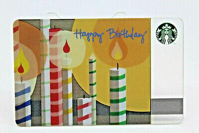 Starbucks Coffee 2010 Gift Card Happy Birthday Candles ... Happy Gift Card Balance