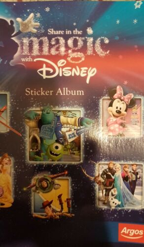 ALBUM SHARE IN THE MAGIC WITH DISNEY FULL SET OF STICKERS X84