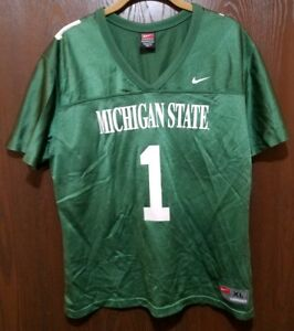 d56c67330507 Vintage Nike Green Michigan State Spartans  1 Football Jersey Woman ...