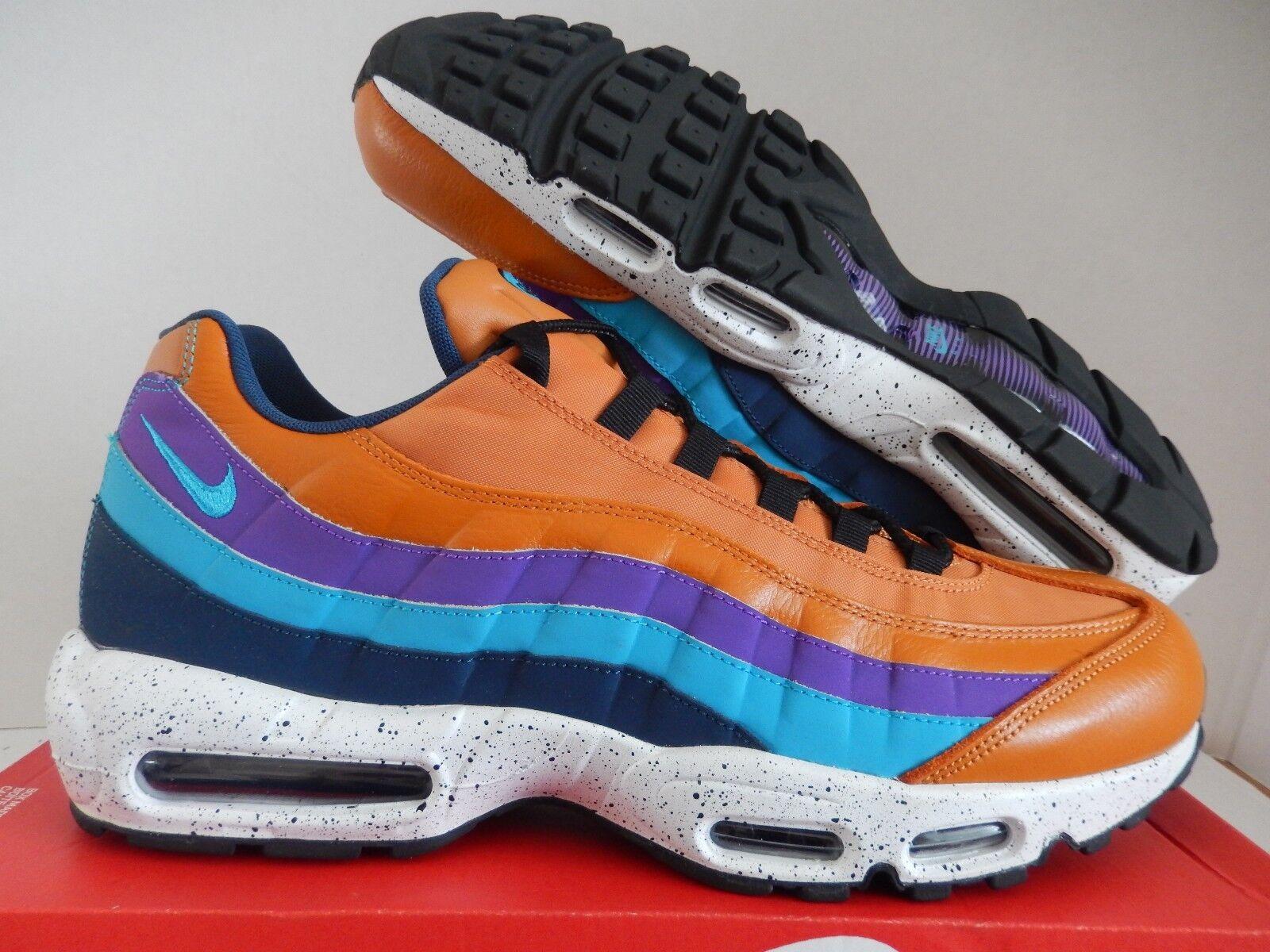 Nike air max 95 premio esterni confezione monarca brown-blue sz 13 [538416-800]