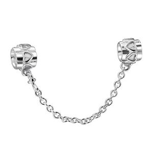 European-Charm-New-925-Sterling-Solid-Silver-Safety-Chain-Love-Bead-For-Bracelet