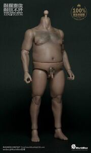 worldbox 1 6 durable male figure fat plump body at018 bw neck ebay