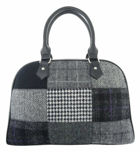 Ladies Harris Tweed Patchwork Handbag Available In 3 Colours LB1022
