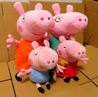 4PCS/Set Pinik Pig Family Father & Mother Peppa Pig and George Pig Plush Toy
