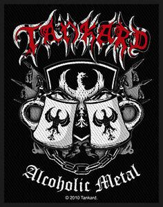 TANKARD-Patch-Aufnaeher-Alcoholic-metal-7x10cm