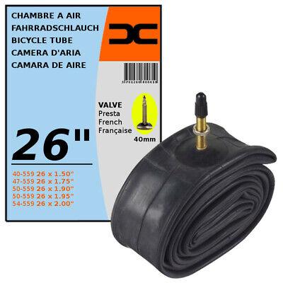 "INNER TUBE 24 x 1.50-2.00/"" PRESTA VALVE TYPE 40mm BICYCLE TIRE MTB 40//54-507"